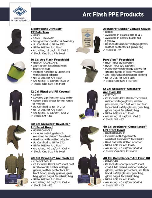 Arc Flash PPE Products Top Sellers NSA